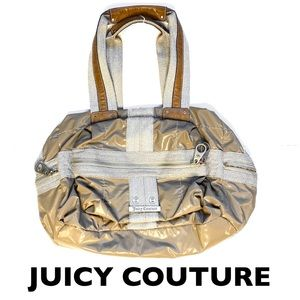 Juicy Couture Tan Quilted Nylon Bag - Mid Sized